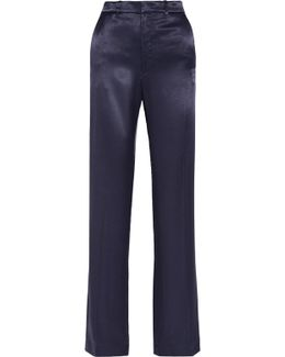 Fergus Charmeuse Wide-leg Pants