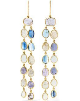 18-karat Gold Multi-stone Earrings