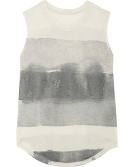 Tie-dyed Cotton-blend Jersey Tank