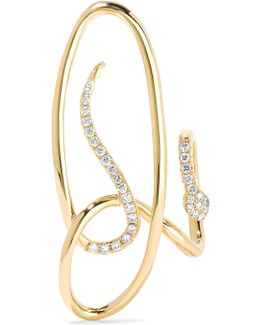 Serpent 18-karat Gold Diamond Earring