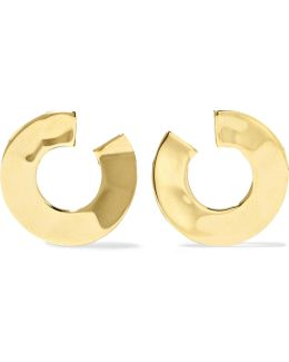 Senso® Luna Hammered 18-karat Gold Earrings