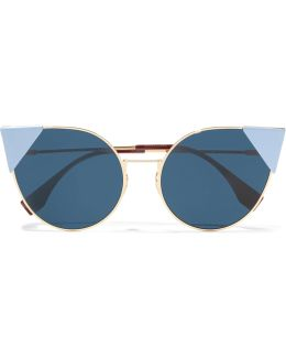 Lei Cat-eye Gold-tone Sunglasse