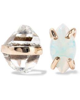 14-karat Gold, Herkimer Diamond And Opal Earrings