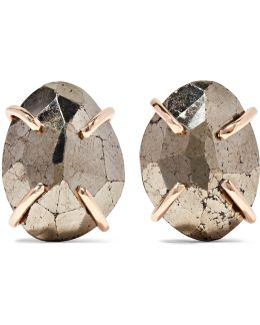 14-karat Gold Pyrite Earrings