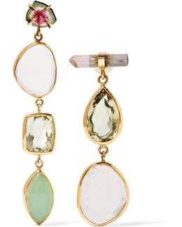 14-karat Gold Multi-stone Earrings