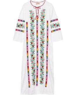 Jasmine Embroidered Cotton Kaftan