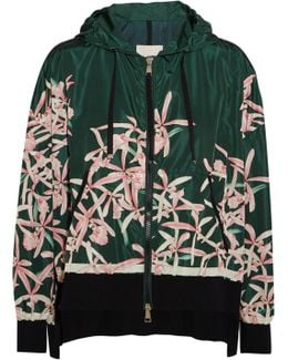 Comte Hooded Floral-print Shell Jacket