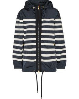 Hooded Striped Shell Jacket