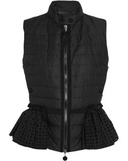 Valensole Broderie Anglaise-trimmed Quilted Cotton Down Gilet