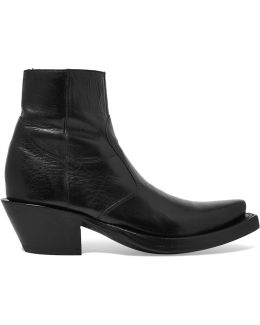 Lucchese Leather Ankle Boots
