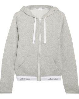 Modern Cotton-blend Jersey Hooded Top