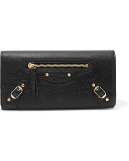 Classic Money Textured-leather Wallet
