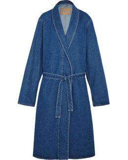 Belted Denim Coat