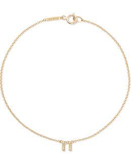 Letter 18-karat Gold Diamond Bracelet