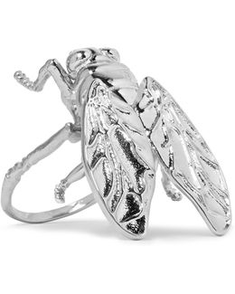 Bug Silver-tone Ring