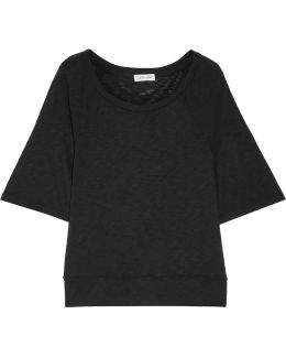 Slub Supima Cotton And Micro Modal-blend T-shirt