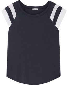 Varsity Active Striped Cotton And Modal-blend Jersey T-shirt