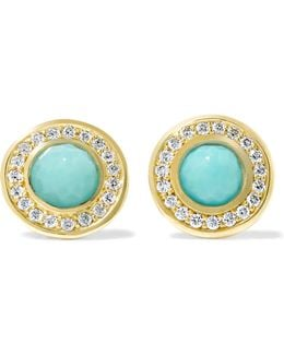 Lollipop® 18-karat Gold, Turquoise And Diamond Earrings