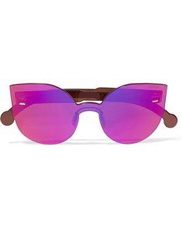 Tuttolente Lucia Cat-eye Acetate Mirrored Sunglasses