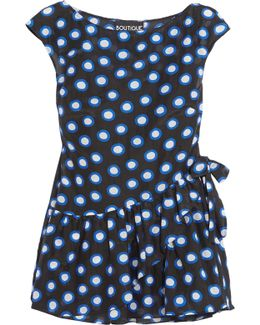 Ruffled Polka-dot Cotton-voile Top