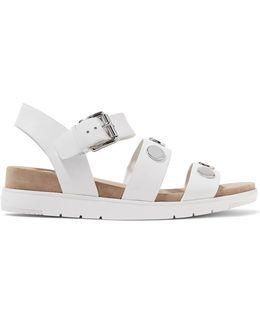 Reggie Embellished Leather Sandals