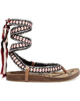 Kelby Tasseled Woven Sandals