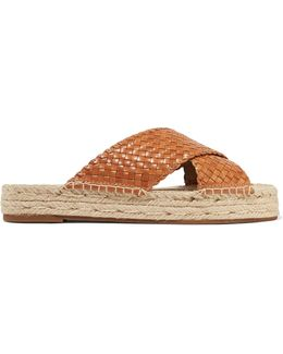 Destin Woven Leather Slides