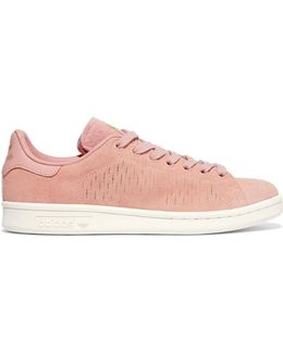 Stan Smith Cutout Suede Sneakers