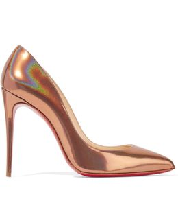 Pigalle Follies 100 Metallic Patent-leather Pumps