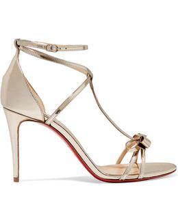 Blakissima 85 Bow-embellished Metallic Leather Sandals