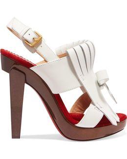 Soclogolfi 120 Fringed Leather Platform Sandals