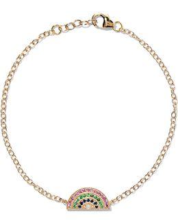 Rainbow 14-karat Gold Multi-stone Bracelet