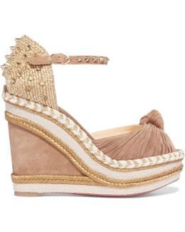 Madcarina 120 Studded Jute And Suede Wedge Sandals