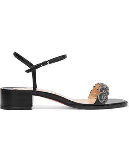 Grekoronda 25 Chain-embellished Stingray And Leather Sandals