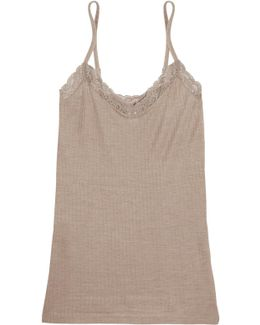 Millie Lace-trimmed Ribbed Jersey Camisole