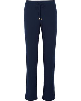 Hélène Ribbed Stretch-modal Jersey Pajama Pants