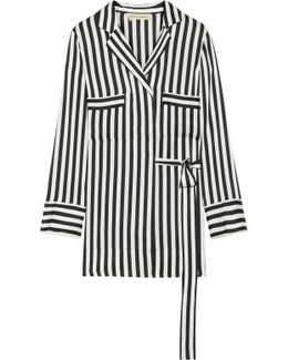 Lanfi Striped Satin Blouse