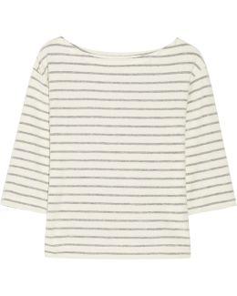Tirans Striped Cotton-terry Top