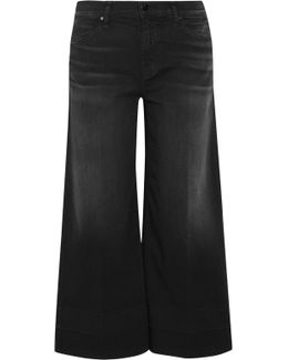 Liza Cropped Mid-rise Wide-leg Jeans