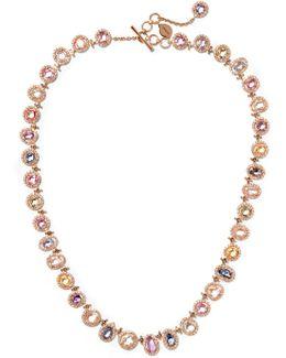 Blossom 18-karat Gold, Sapphire And Diamond Necklace