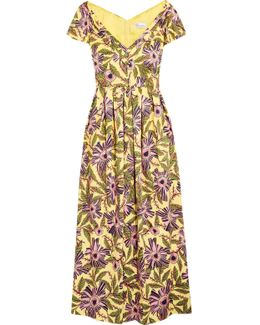 Floral Popeline Midi Dress