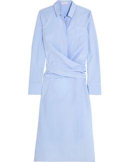 Cotton Oxford Wrap Shirt