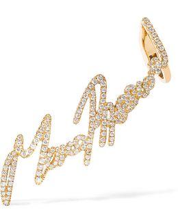 + Tracey Emin More Passion 18-karat Gold Diamond Ear Cuff