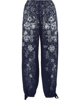Exclusive Printed Cady Pants
