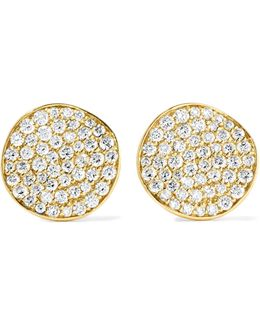 Glamazon® Stardust Flower 18-karat Gold Diamond Earrings