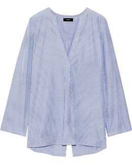 Ofeliah Pinstriped Cotton-poplin Shirt