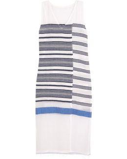 Aziza Striped Cotton-blend Gauze Midi Dress