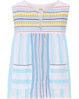 Edna Striped Cotton-gauze Top