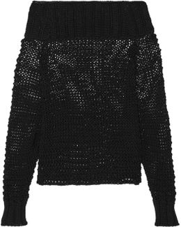 Ebner Off-the-shoulder Cable-knit Cotton Sweater