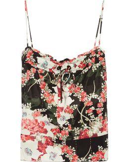Lizzie Floral-print Satin-twill Camisole
